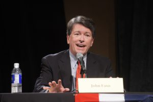 Republican John Faso takes part in a debate with Democrat Zephyr Teachout  at WAMC's Performing Arts Center on Thursday, Sept. 15, 2016, in Albany, N.Y.    (Paul Buckowski / Times Union)