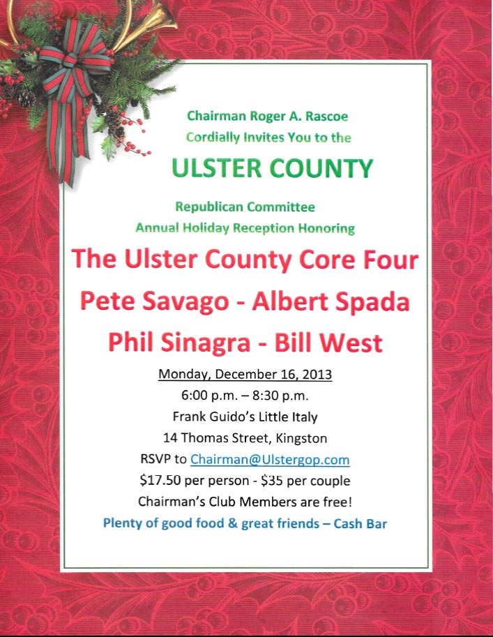 Ulster County Republican Committee Annual Holiday Reception